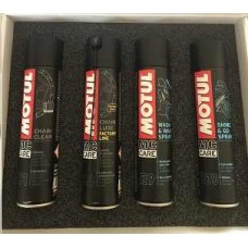 Motul MC CARE ™ Bundel - C1 / C4 / E9 / E10 / Kettingborstel / Microvezeldoek